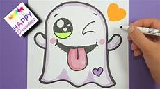 Cute Drawlings Drawing Coloring How To Draw A Cute Halloween Ghost