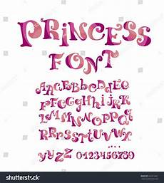 Girl Fonts Abc Vector Font Girl Numbers Alphabet Stock Vector