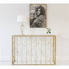 leaf motif gold console table console table leaf table