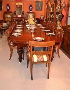 antique 15ft dining table circa 1860 and 16 inlaid chairs