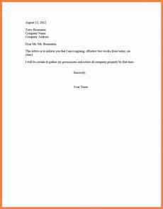 2 Week Notice Letter Template 9 Simple Two Week Notice Template Notice Letter