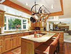 kitchen island with pot rack 35 kitchens with hanging pot racks pictures