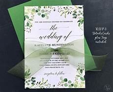 Download And Print Wedding Invitations Free Rustic Greenery Wedding Invitation Printable Floral
