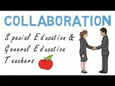 collaboration of special education and general education