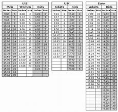 Us Shoe Size Chart Inches Inches Shoe Size Chart For Hand Made Shoes For Adults