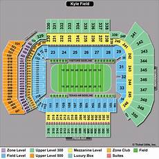 Tamu Football Seating Chart University Of Texas Football Stadium Seating Map