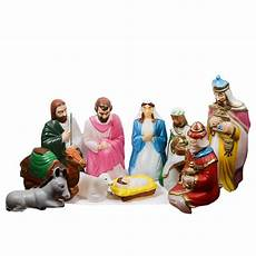 Outdoor Lighted Plastic Nativity Set Large Outdoor Light Up Plastic Nativity Scene Ebth
