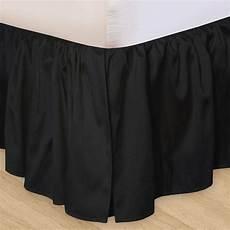 solid black or king bedskirt 100 cotton dust