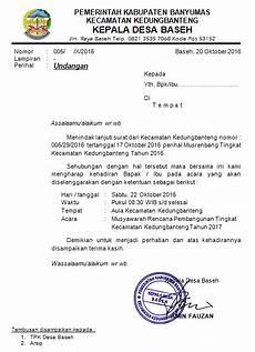undangan kepala camat contoh surat undangan