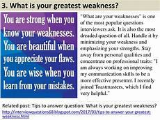 What Is Your Biggest Weakness Interview Question 3 What Is Your Greatest Weakness Quot What Are Your