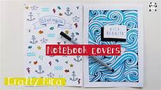 Cover Page For Notebook How To Decorate Notebooks Diy Notebook Cover Ideas Sea