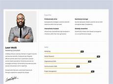 Portfolio And Resumes 10 Free Bootstrap Html Online Resume Templates For Cv