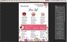Pricelist Template Beauty Pricing List Template Price List Template Menu Template
