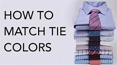 Suit Color Matching Chart How To Match Tie Colors To Suits Amp Shirts Youtube