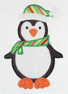 penguin applique winter penguin embroidery design machine applique