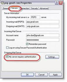 Setting Up Gmail Account In Outlook Configuring Gmail Outlook Express Settings Gmail Pop