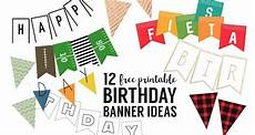 Create A Birthday Banner Free Printable Birthday Banner Ideas Paper Trail Design
