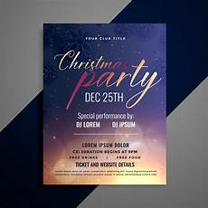 Invitation Flyer Template Christmas Party Invitation Flyer Template Design