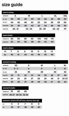 85 Cm Size Chart Size Chart J Lindeberg
