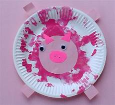 crafts for toddlers paper plate baby farm animals mess