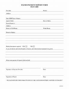 Childcare Incident Report Incident Form Childcare Fill Online Printable Fillable
