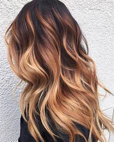 Light Brown Hair With Strawberry Highlights 60 Looks With Caramel Highlights On Brown And Dark Brown