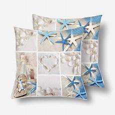 gckg summer seashells collage throw pillow covers 18x18