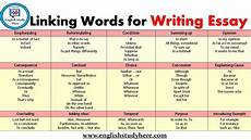 Essay Words To Use Linking Words For Writing Essay English Study Here