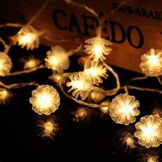 Pine Cone String Lights 2 2m 20 Pine Cone Leds String Lights Christmas Tree