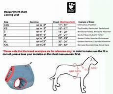 Hurtta Dog Coat Size Chart Hurtta Motivation Dog Cooling Vest