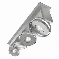 Led Ceiling Track Light Fixtures Philips Orbit 4 Light Integrated Semi Flush Brushed Nickel