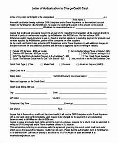 Credit Card Charge Authorization 46 Examples Of Authorization Letter Pdf Word Pages