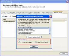 Where Can I Buy An Address Book Tip 716 Change Address Book Sort Order Outlook Tips
