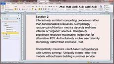 Download Microsoft Word Document Creating Structured Documents In Microsoft Word 2010 Youtube