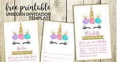 Invitation Creator Free Printable Free Printable Unicorn Invitations Template Paper Trail