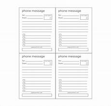 Phone Messages Template 21 Phone Message Templates Pdf Doc Free Amp Premium