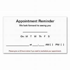 Appointment Reminder Template Word Appointment Reminder Cards 100 Pack White Zazzle Com