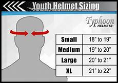 youth atv helmet size chart by age youth atv or motocross helmet sizing tips typhoon helmets