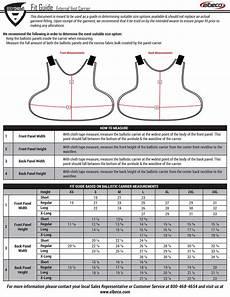 Vest Size Chart Elbeco Bodyshield External Vest Carrier