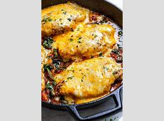 Tomato Spinach Chicken Skillet (Low Carb ? Keto) ? Eatwell101