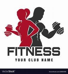 Fitness Logo Design Fitness Club Logo Royalty Free Vector Image Vectorstock