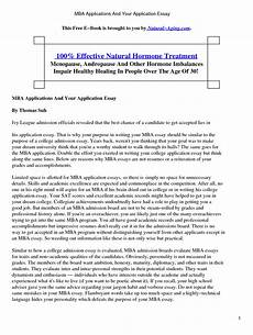Mba Admission Essay Sample Awesome Stanford Essay Examples Thatsnotus