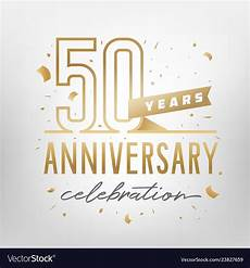 50th Anniversary Template 50th Anniversary Celebration Golden Template Vector Image