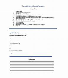 Business Meeting Template Business Meeting Agenda Templates 8 Free Templates