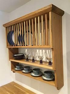 pine painted oak plate rack