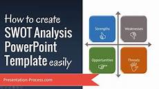 How To Create Template For Powerpoint How To Create Swot Analysis Powerpoint Template Easily