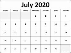 Print Free Monthly Calendar 2020 July 2020 Calendar Free Printable Monthly Calendars