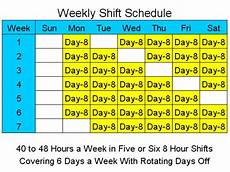 Rotating Shift Schedule Search Results For 8 Hour Rotating Shift Schedules