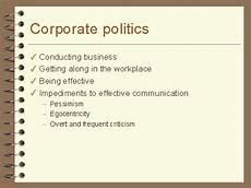 Corporate Politics Corporate Politics