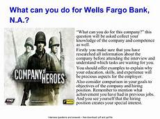 Wells Fargo Interview Questions Wells Fargo Bank N A Interview Questions And Answers